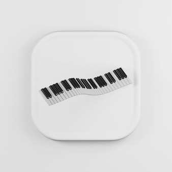 Dancing curved piano keyboard icon
