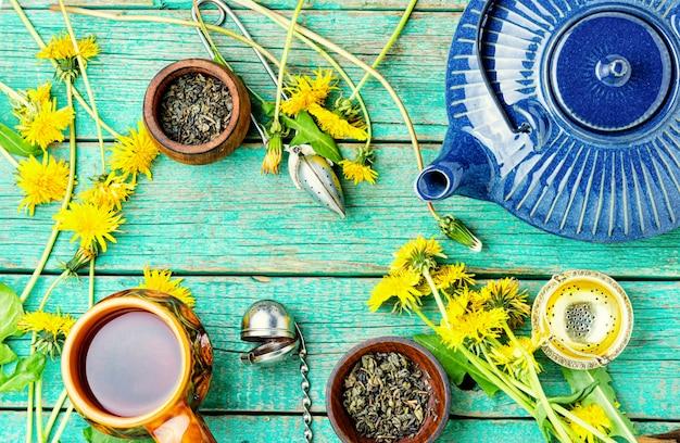 Травяной чай из одуванчиков