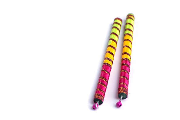 Dandiya sticks for indian folk dance in navratri festival