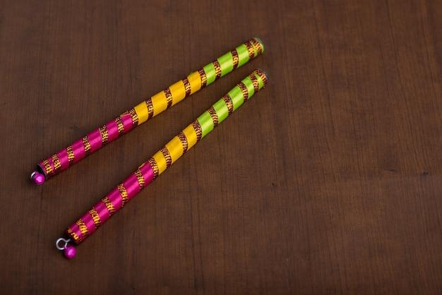 Dandiya sticks for indian folk dance in navratri festival