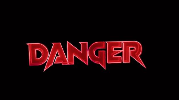Danger 3d text images
