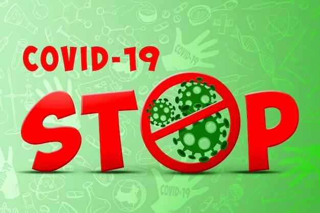 위험한 코로나 바이러스, sars 전염병 위험 개념. 3d 일러스트레이션