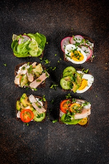 Danish open sandwich smorrebrod