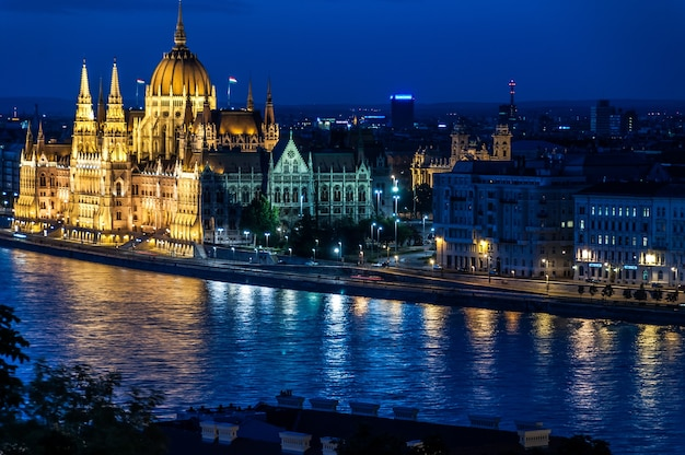 Danube budapest river parliament palace
