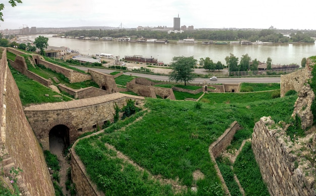 Danube river near belgrade fortress
