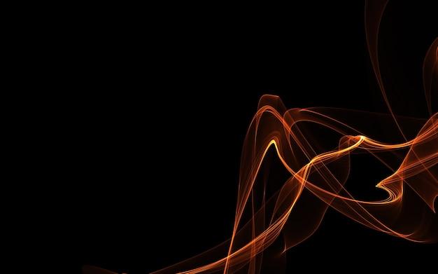 Темный абстрактный фон с светящимися абстрактными волнами