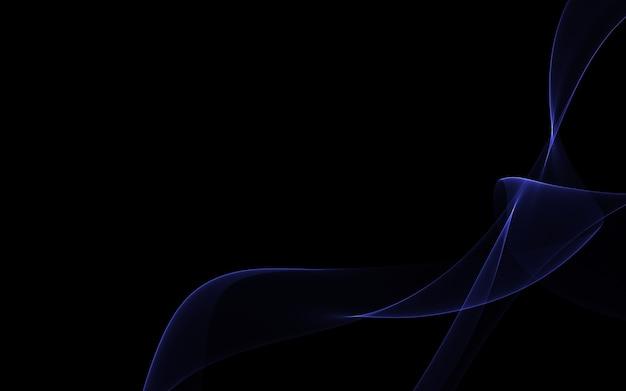 빛나는 추상 파도와 어두운 추상 배경