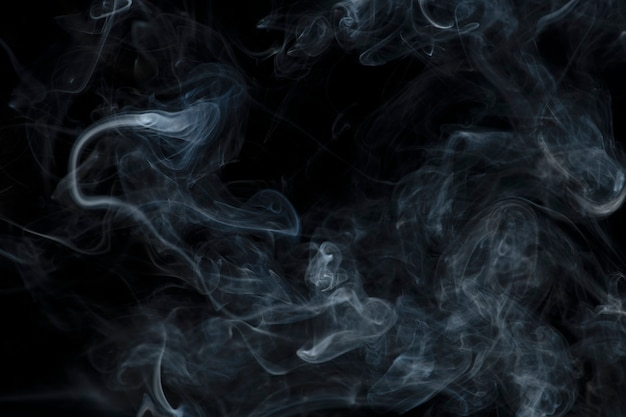 Темный абстрактный фон обоев, текстура дыма