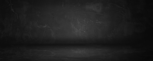 제품과 배경을 표현하기위한 어둡고 검은 색 콘크리트와 시멘트 벽 및 스튜디오