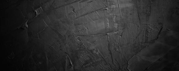 Темно-черный гранж и текстура цемента или бетона по горизонтали