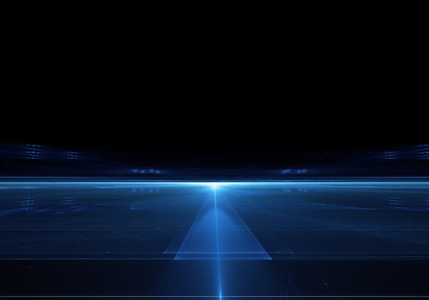 Dark background with bright blue line