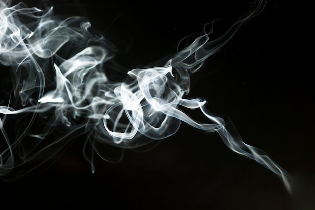 Dark background with delicate smoke effect