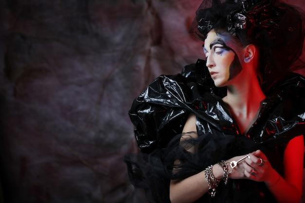 Dark beautiful gothic princess.halloween