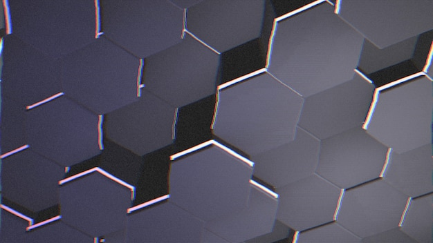 Dark big blue hex grid background, abstract background. elegant and luxury style 3d illustration for business and corporate template