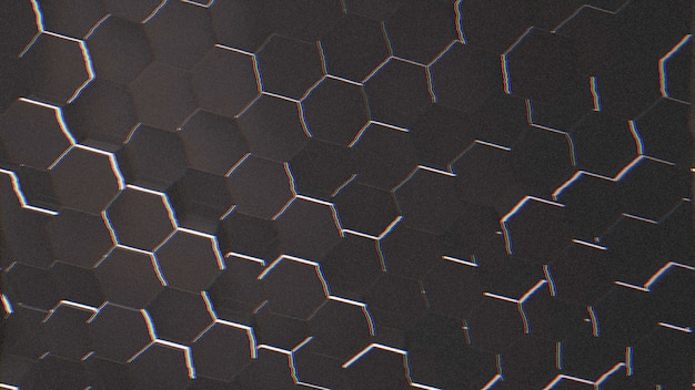 Dark black hex grid background, abstract background. elegant and luxury style 3d illustration for business and corporate template
