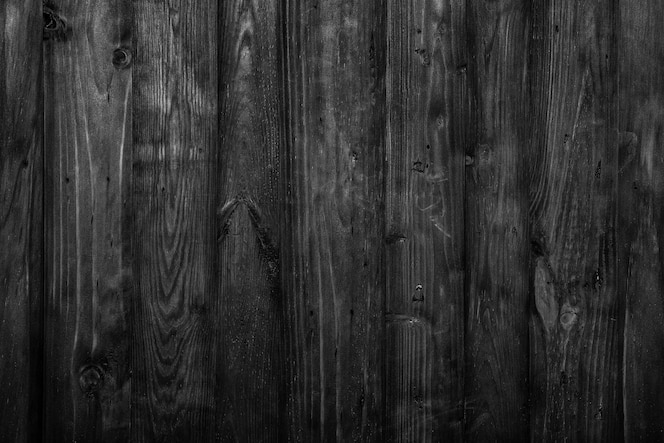 Dark black rustic wooden planks background with empty space