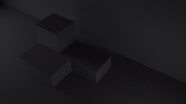 Dark black steps, product stage