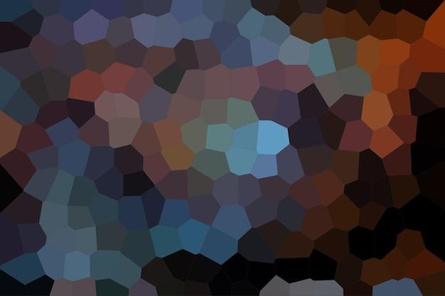 濃い青と茶色のモザイク抽象的なテクスチャ背景、グラデーション壁紙のパターン背景