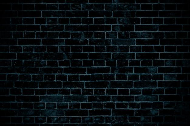 ダークブルーのレンガの壁。ロフトのインテリアデザイン。ファサードの青いペンキ。