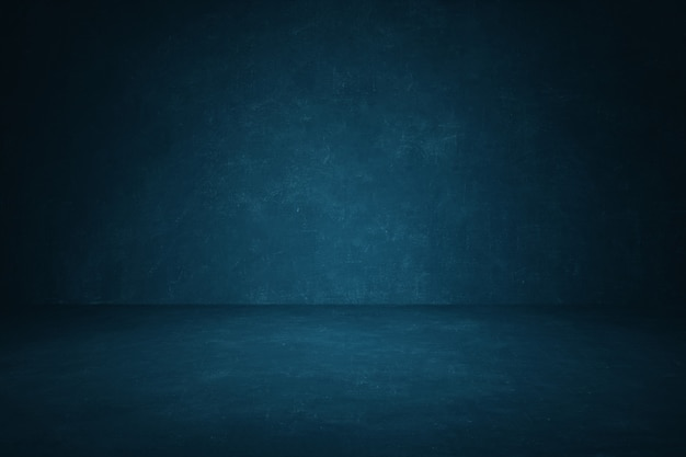 Dark blue chalkboard wall studio background