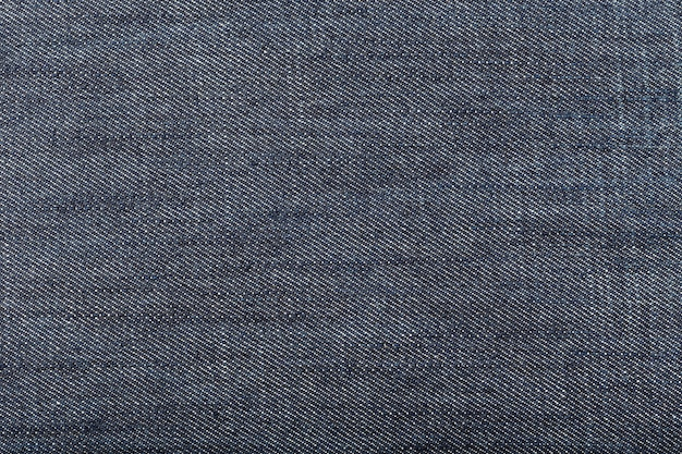 Dark blue denim fabric background. close up