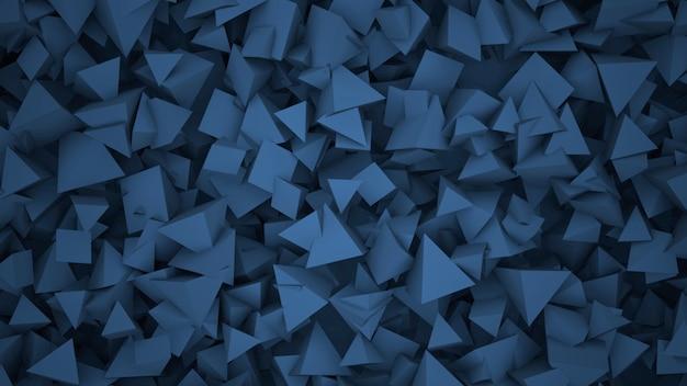紺色の幾何学的形状、抽象的な背景。ビジネスや企業のテンプレート、3dイラストのエレガントで豪華なスタイル