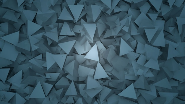 Dark blue geometric triangles pattern, abstract background. elegant and luxury style for business and corporate template, 3d illustration