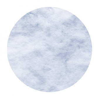 Dark blue hand drawn watercolor circular frame background texture with stains