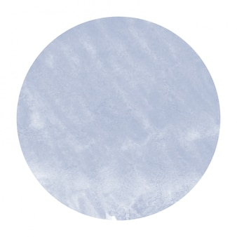 Dark blue hand drawn watercolor circular frame  texture with stains