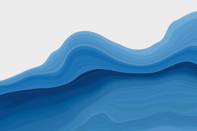 Темно-синий мраморный фон волны