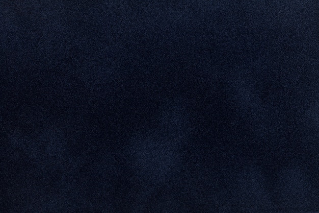 Dark blue suede fabric with velvet texture