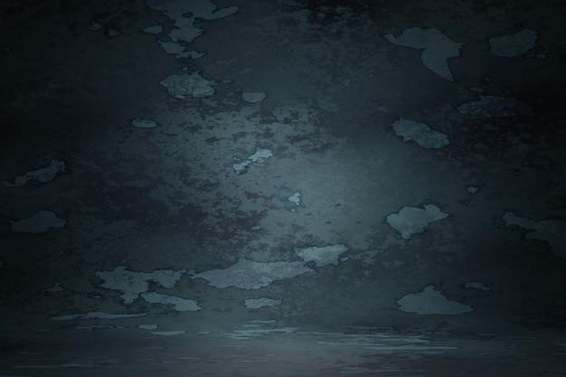 濃い青のビンテージテクスチャ壁スクラッチぼやけ汚れ背景