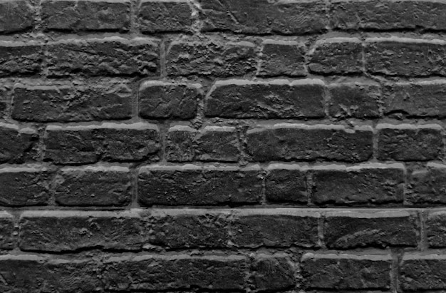 Темная кирпичная стена в деревенском стиле