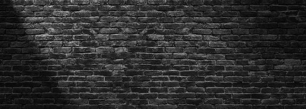 어두운 벽돌 벽, 검은 돌 블록의 질감