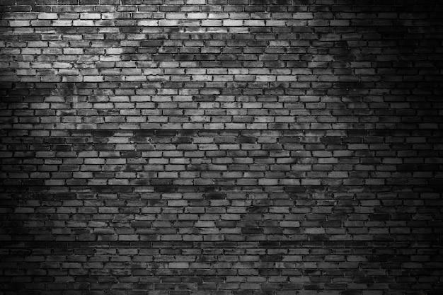 暗いレンガの壁、背景テクスチャとしての黒いブロック