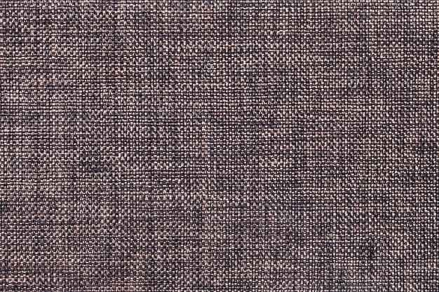 Dark brown background of dense woven bagging fabric