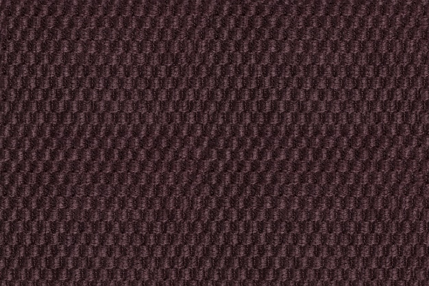 Dark brown background from soft fleecy fabric closeup