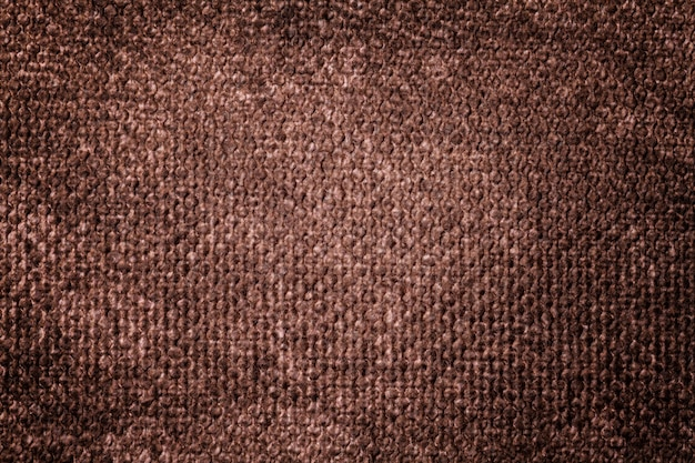 Dark brown background from soft textile material