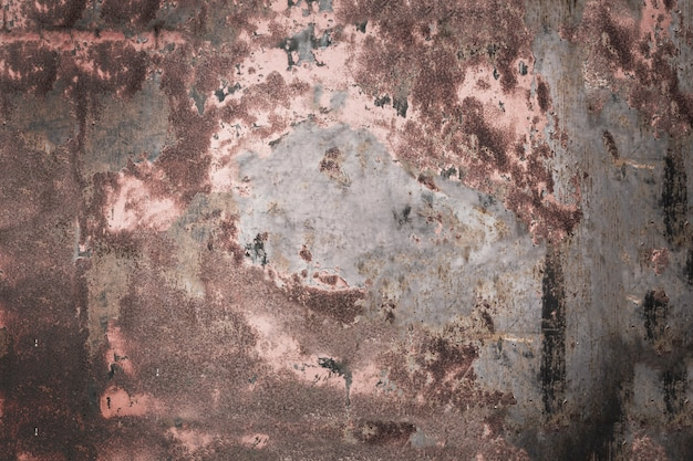 Dark brown grungy metal wall weathered