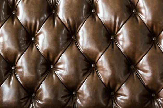 Dark brown leather sofa pattern
