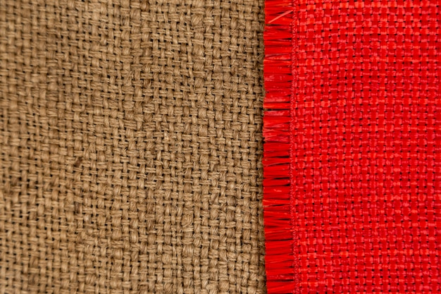 Dark brown and red textile surface