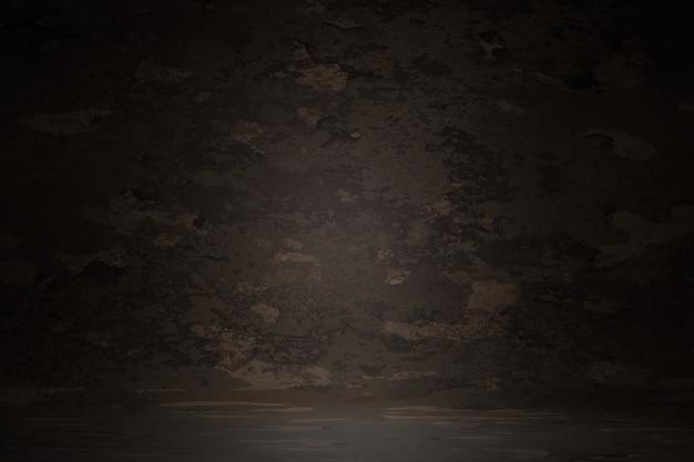 暗い茶色のビンテージテクスチャ壁スクラッチぼやけ染色背景、3 dレンダリング