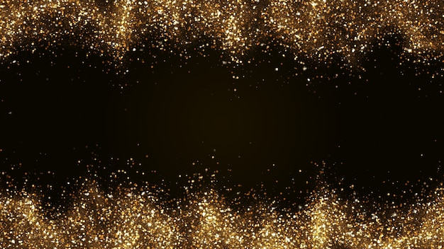 Dark brown with small particles gathered into light waves golden yellow.