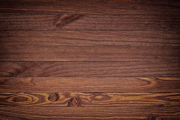 高解像度のダークブラウンの木製の背景。上面図コピースペース
