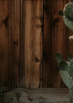 Темно-коричневый деревянный фон стены дома