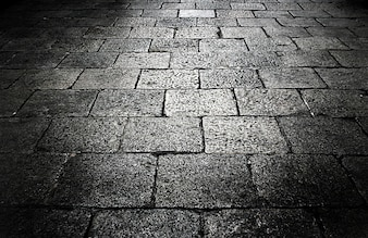 Dark cement blog walk way