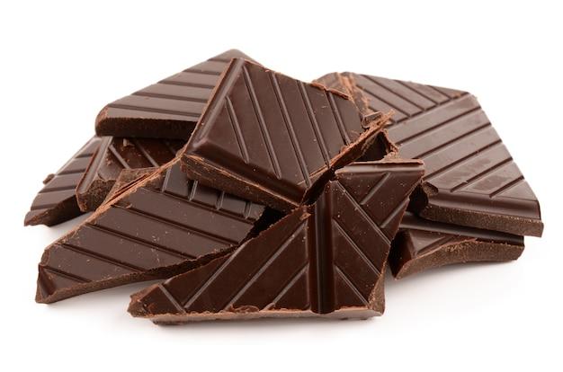 白地にダークチョコレート