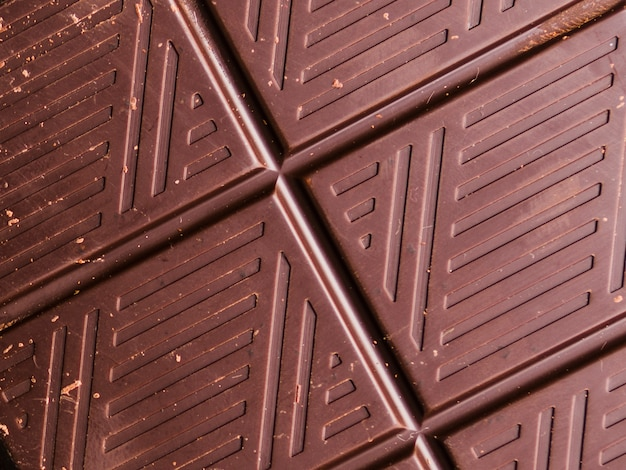 Dark chocolate texture