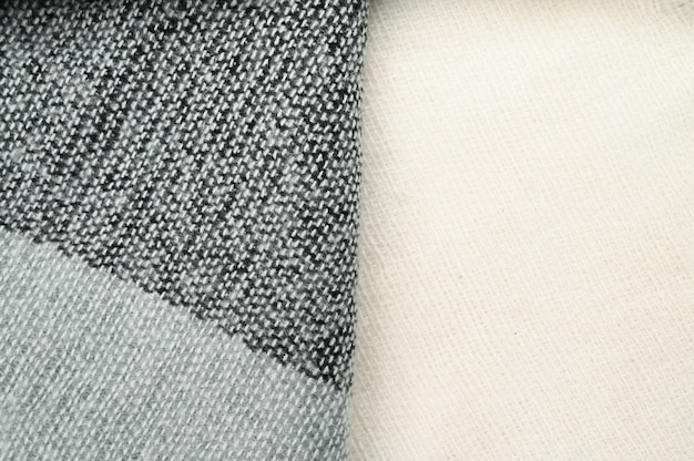 Dark color woolen fabric, close up. high quality photo