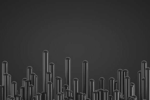Dark decorative abstract background. plenty of smooth rods. copy space